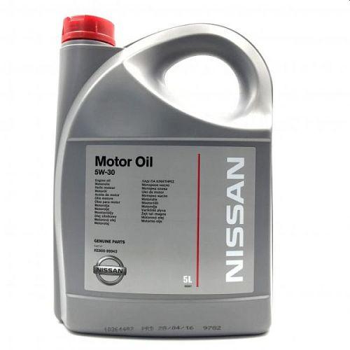 NISSAN Motor Oil 5W30 синтетическое 5 л KE90099943R